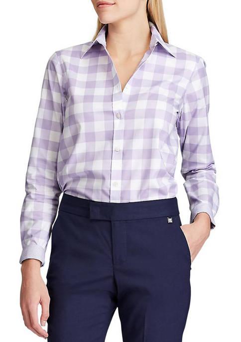Chaps Womens Jamie Gingham Non Iron Shirt