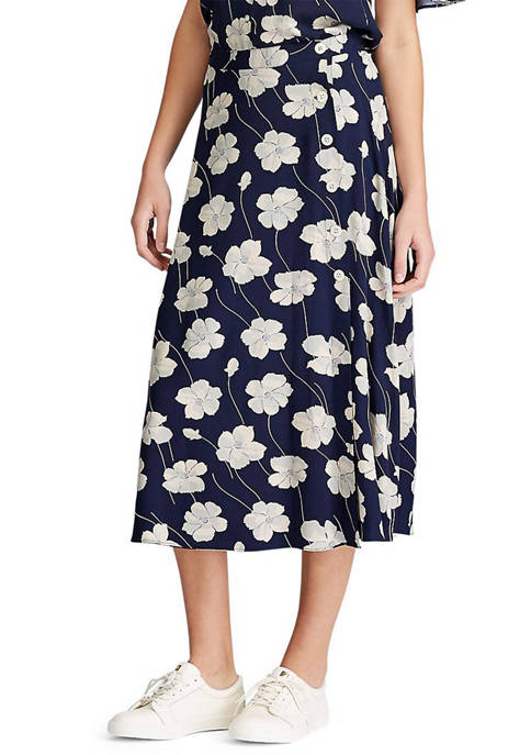 Chaps Easton Floral Print Skirt