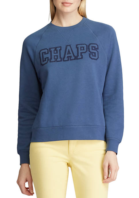 Chaps Womens Terik Long Sleeve Logo Sweatshirt