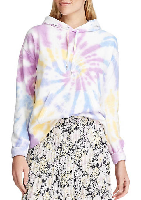 Chaps Womens Tie Dye French Terry Hoodie