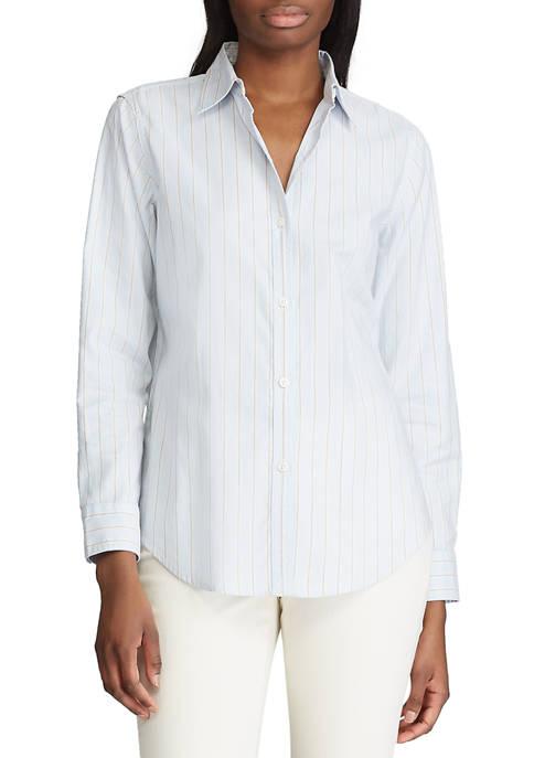 Chaps Womens Judy Stripe Oxford Shirt