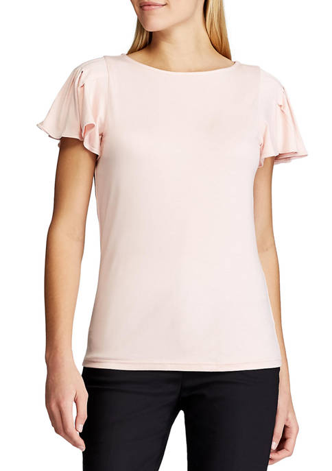 Chaps Womens Short Sleeve Terelyn Solid Viscose T-Shirt