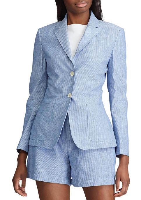 Chaps Womens Cotton Linen Jacket