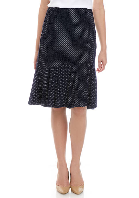 Chaps Womens Dot Jersey Skirt