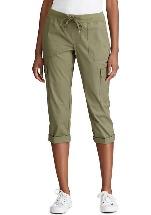 Chaps Stretch Cotton Capri Pants