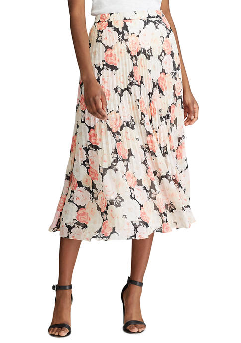 Chaps Womens Printed Maxi Skirt