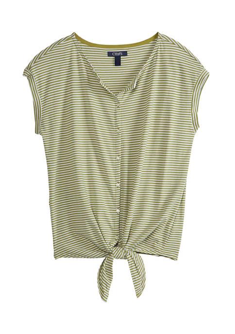 Chaps Womens Short Sleeve Modal Jersey Top