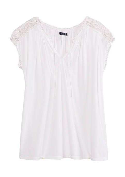 Chaps Womens Short Sleeve Modal Jersey Shirt