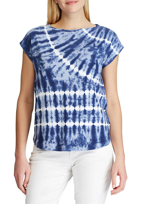 Chaps Womens Tie Dye T Shirt