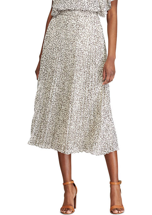 Chaps Printed Maxi Skirt