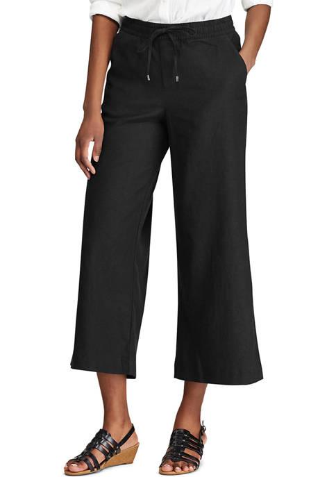 Chaps Linen Blend Straight Pants