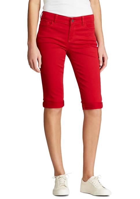 Chaps Womens Stretch Twill Shorts