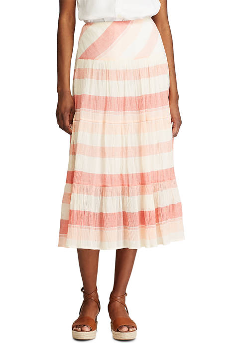Chaps Tiered Maxi Skirt