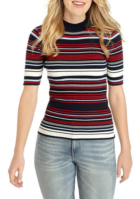 Womens Stripe Rib Sweater