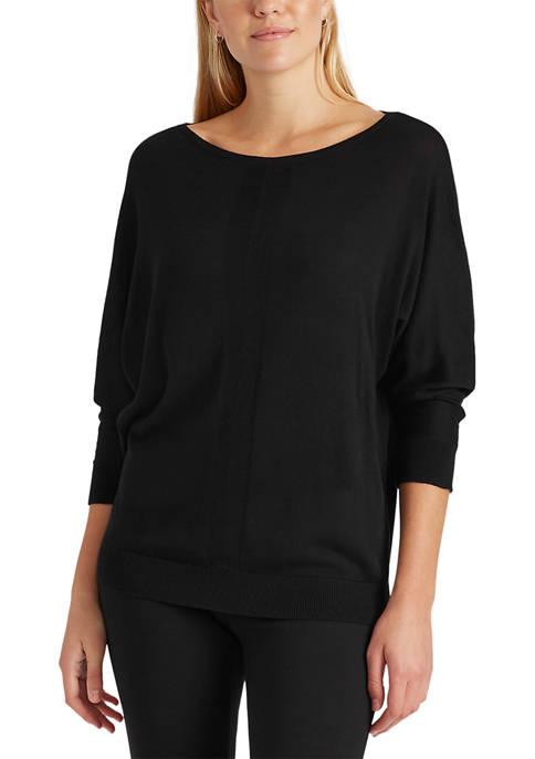 Womens 3/4 Dolman Sleeve Sweater