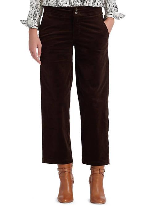 Chaps Cropped Corduroy Wide Leg Pants