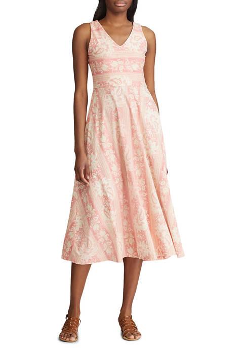 Chaps Womens Cotton Jersey Sleeveless Casual Dress