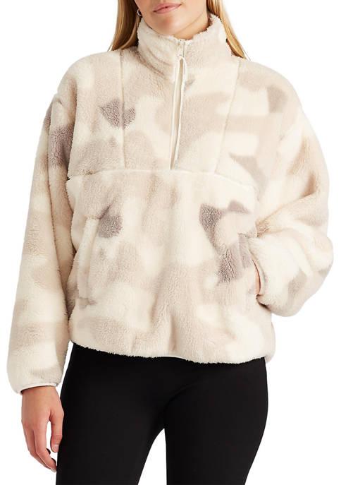 Chaps Long Sleeve Sherpa Knit Top