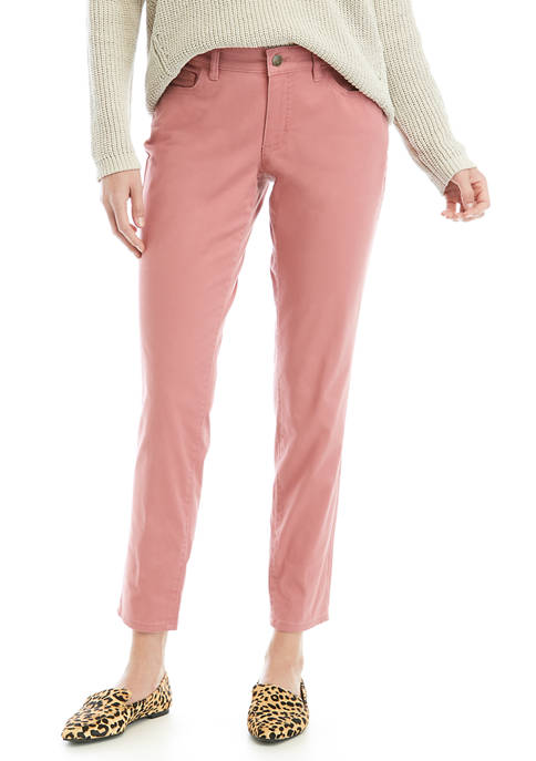 Womens Skinny Stretch Ankle Pants