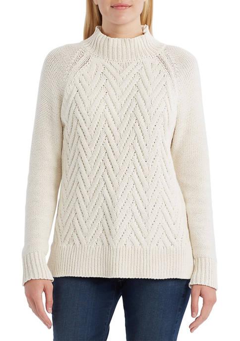 Womens Mock Neck Sweater