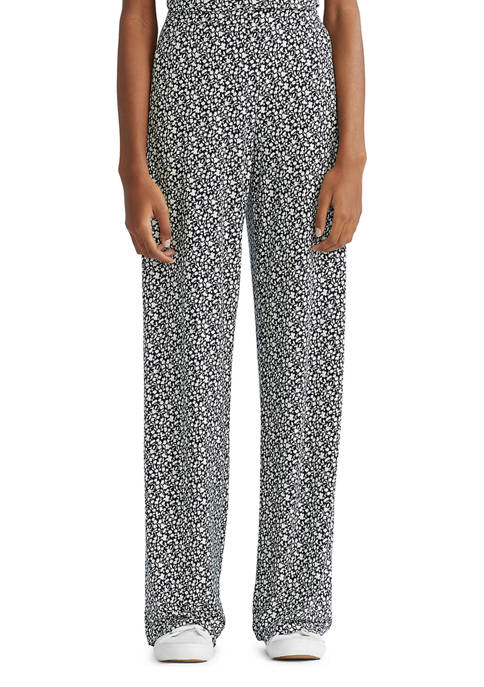 Chaps Womens Jersey Wide Leg Pants