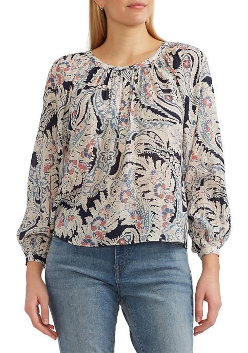 Chaps Womens Cotton Paisley Top