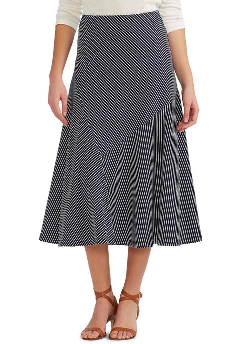 Chaps Womens Cotton Jersey A-Line Skirt