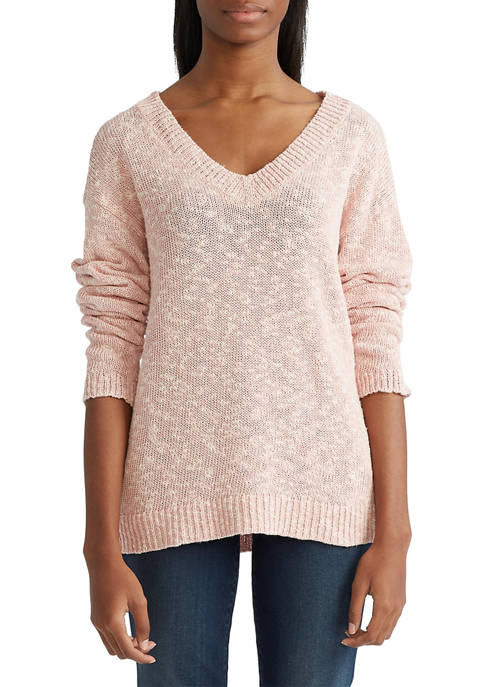 Chaps Womens Cotton V-Neck Sweater