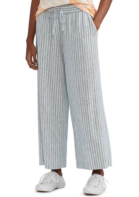 Chaps Womens Linen Flat Front Pants