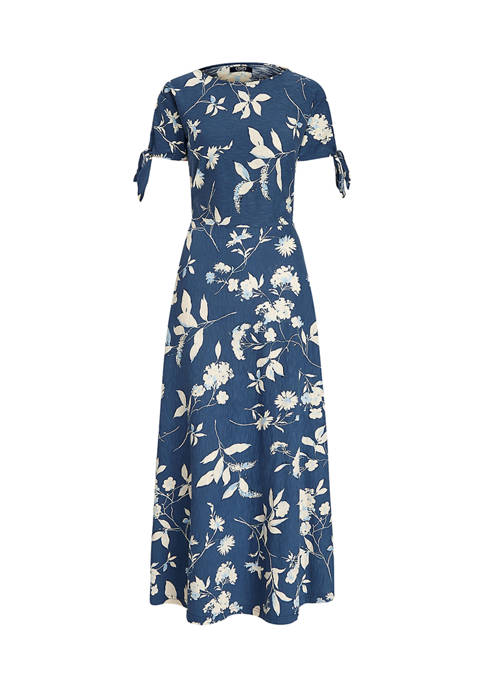 Chaps Womens Short Sleeve Cotton Dress