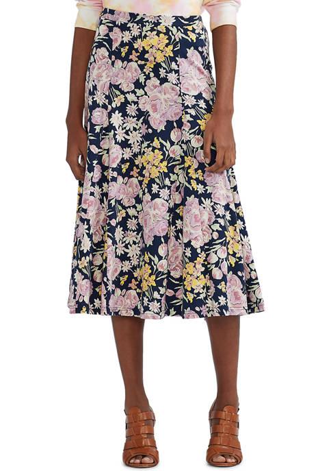 Womens Lightweight Cotton A-Line Skirt