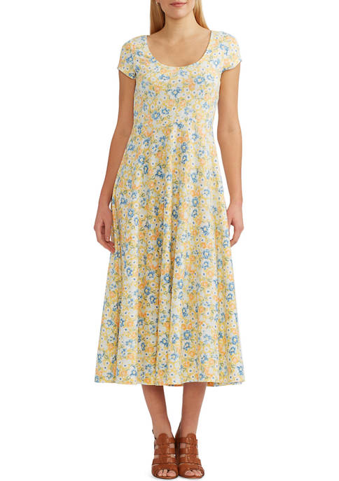 Chaps Fit and Flare Midi Dress