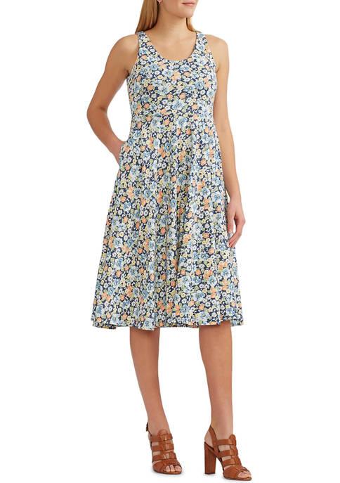Chaps Lightweight Cotton Jersey Sleeveless Sun Dress