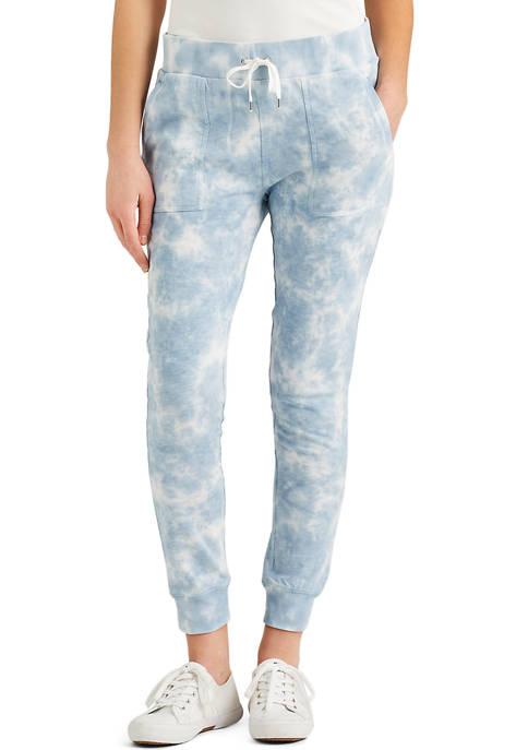 Chaps Womens Tie Dye Sweatpants