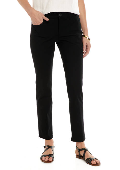 Chaps Petite Straight Casual Pants