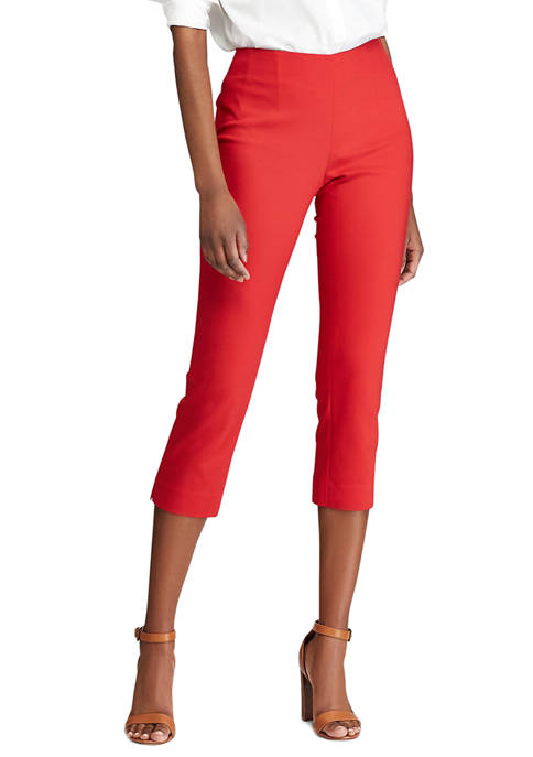 Chaps Petite Stretch Cotton Blend Capri Pants