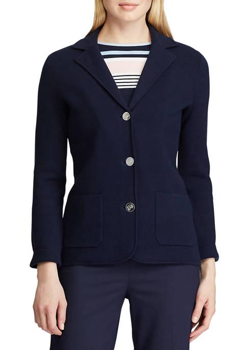 Chaps Petite Knit Sweater Blazer