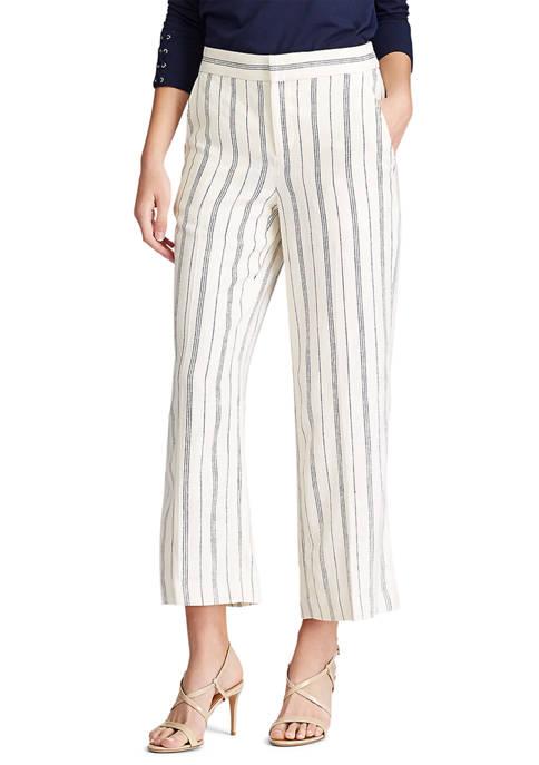 Chaps Petite Striped Wide Leg Pants