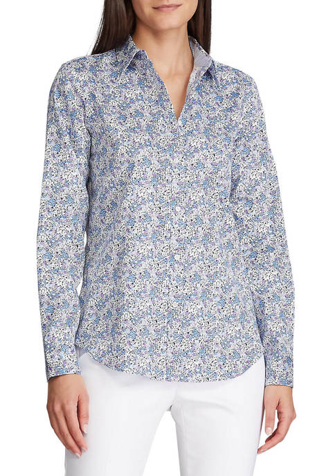 Chaps Petite No Iron Button Down Shirt