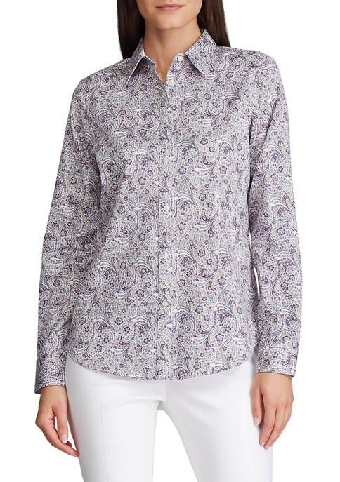 Chaps Petite No Iron Button Down Shirt