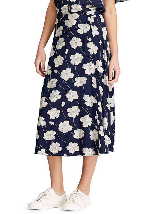 Petite Floral Print Skirt