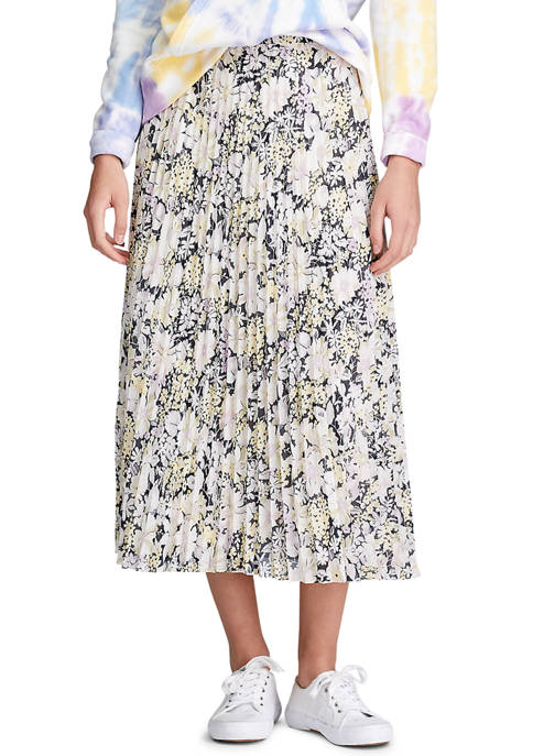 Chaps Petite Floral Georgette Skirt