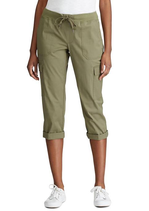 Chaps Petite Stretch Cotton Capri Pants