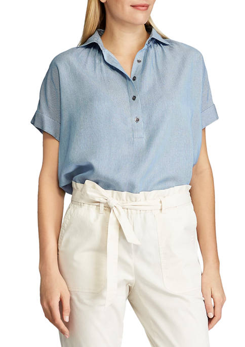 Chaps Petite Short Sleeve Top