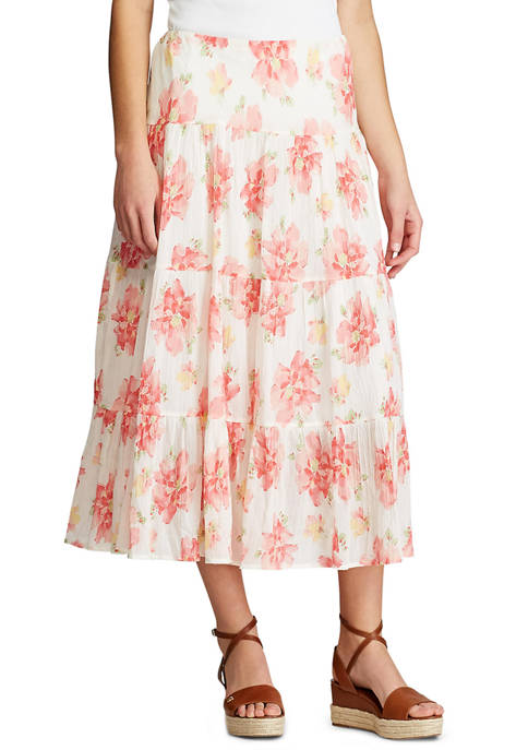 Chaps Petite Tiered Maxi Skirt