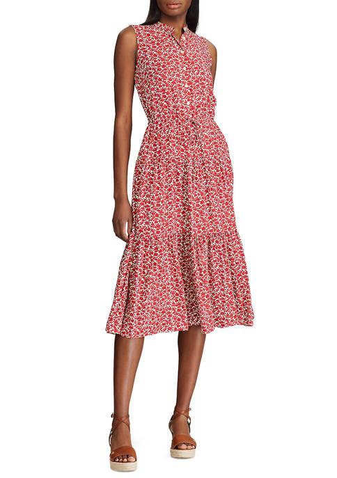 Chaps Petite Sleeveless Shirt Dress