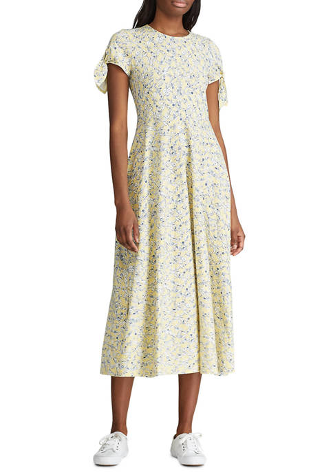 Petite Short Sleeve Cotton Dress