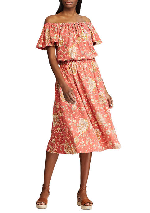 Chaps Petite Floral Fit and Flare Dress