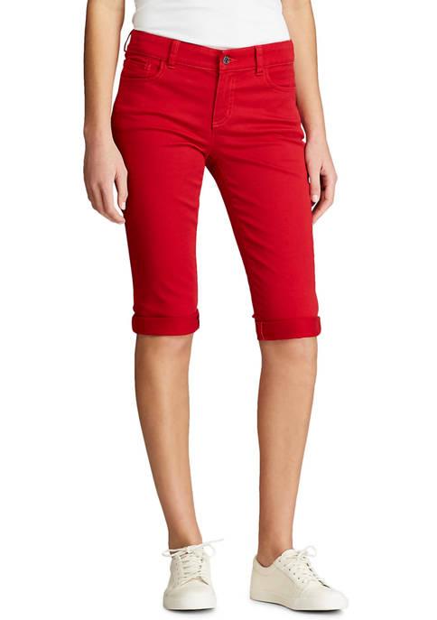 Chaps Petite Soft Twill Bermuda Shorts