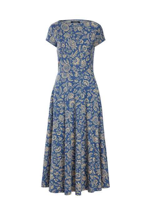 Chaps Petite Floral Cotton Dress